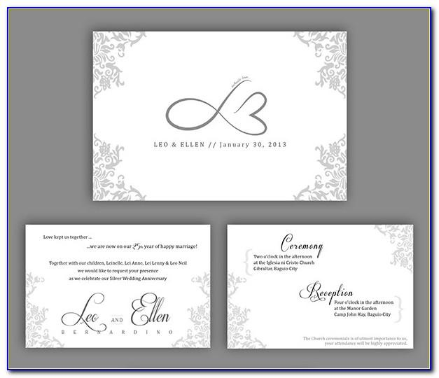 30th Wedding Anniversary Invitations Free Templates