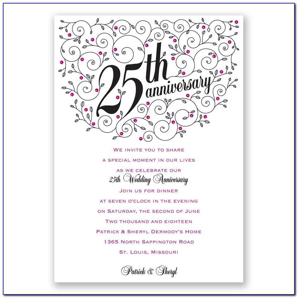 40th Wedding Anniversary Invitations Templates Free Download