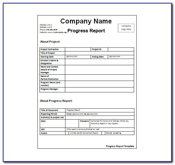 Activity Report Template Powerpoint