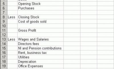 Annual Profit And Loss Statement Templa
