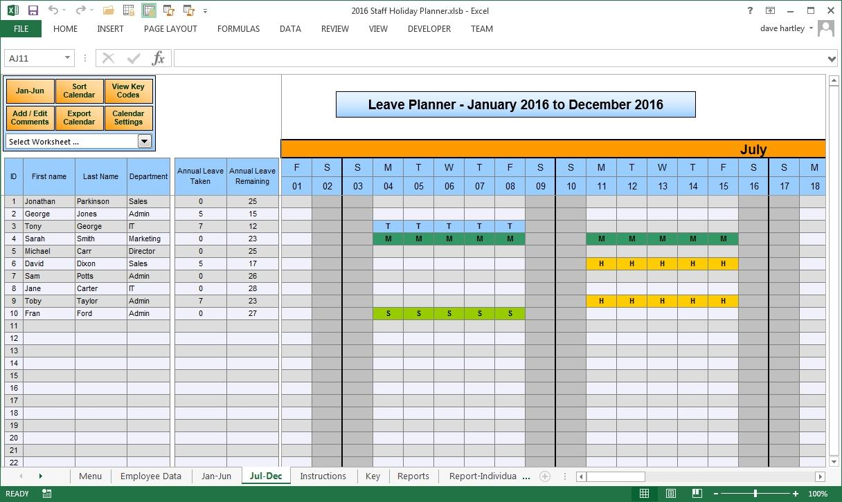 Annual Sales Plan Template Excel