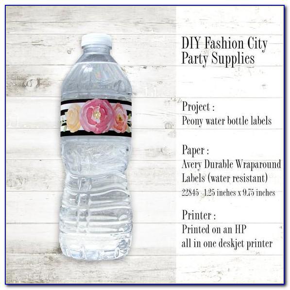 Avery Water Bottle Labels Amazon
