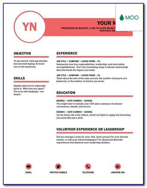 Best Word Templates For Resume