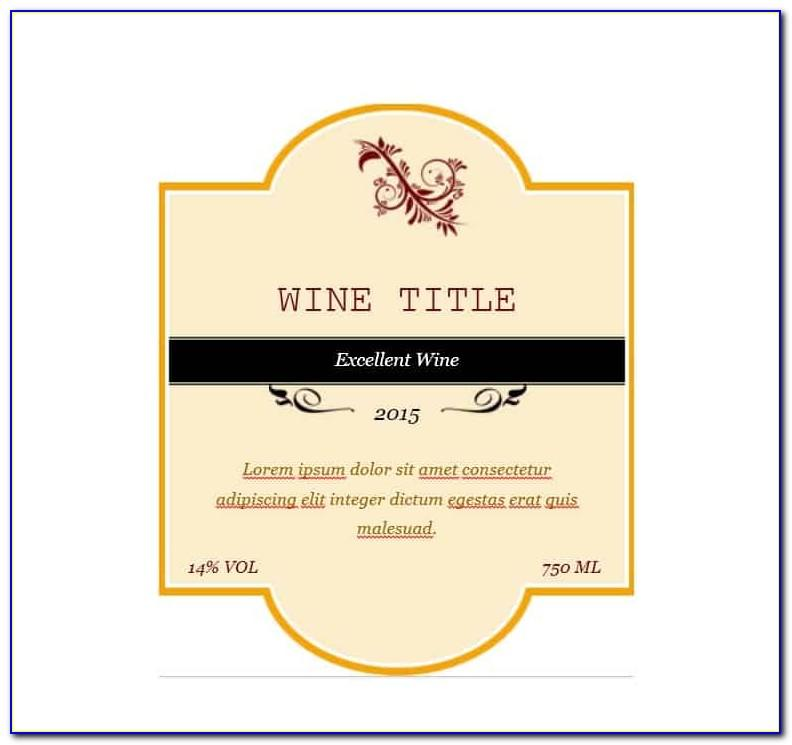 Blank Wine Label Template Free Download
