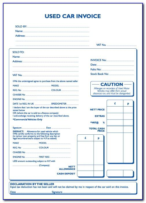 Car Sale Receipt Template Uk Word