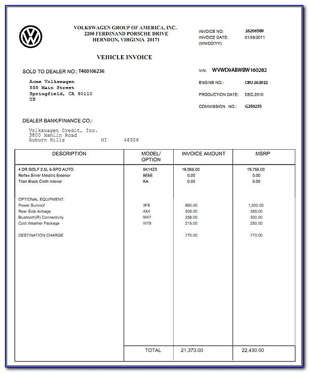 Car Sales Invoice Template Free Download Uk