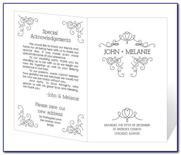 Catholic Wedding Program Template Microsoft Word