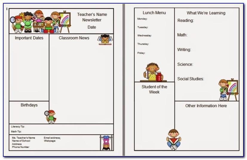 Classroom Newsletter Template Free Google Docs