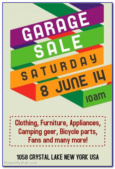 Community Garage Sale Flyer Template Free