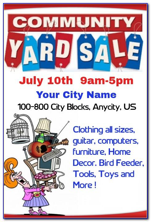 Community Yard Sale Flyer Template Free