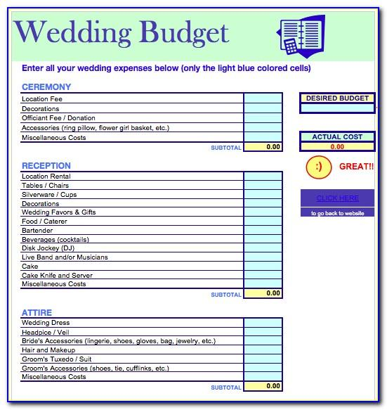 Detailed Wedding Budget Template Uk