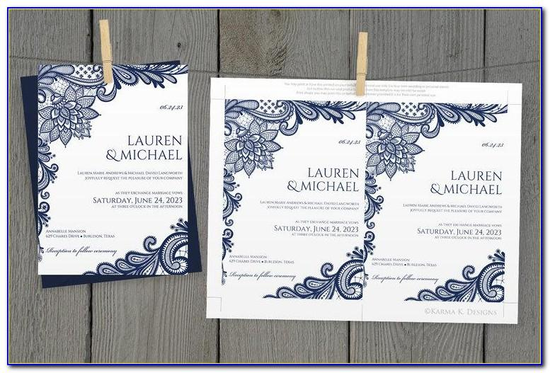 Diy Pocket Wedding Invitations Templates