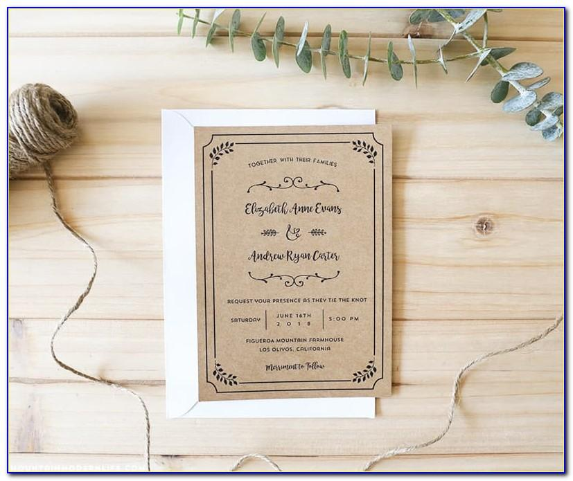 Diy Pocketfold Wedding Invitations Templates