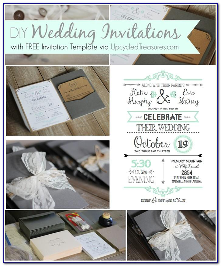 Diy Wedding Invitation Templates Free