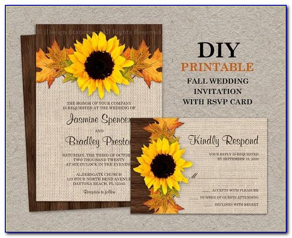 Diy Wedding Invitation Templates Printable Free