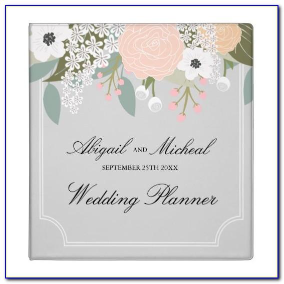 Diy Wedding Planner Binder Template