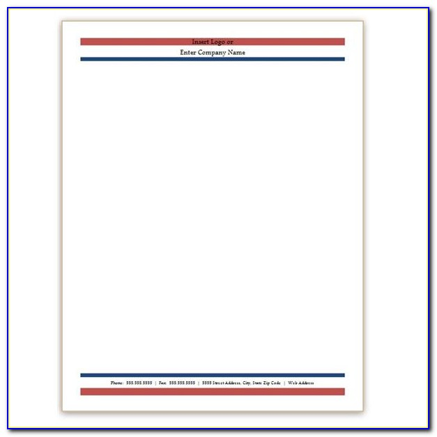 Download Word Template For Letterhead