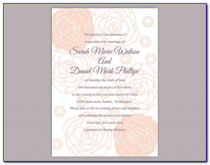 Editable Wedding Invitation Templates Free Download Online