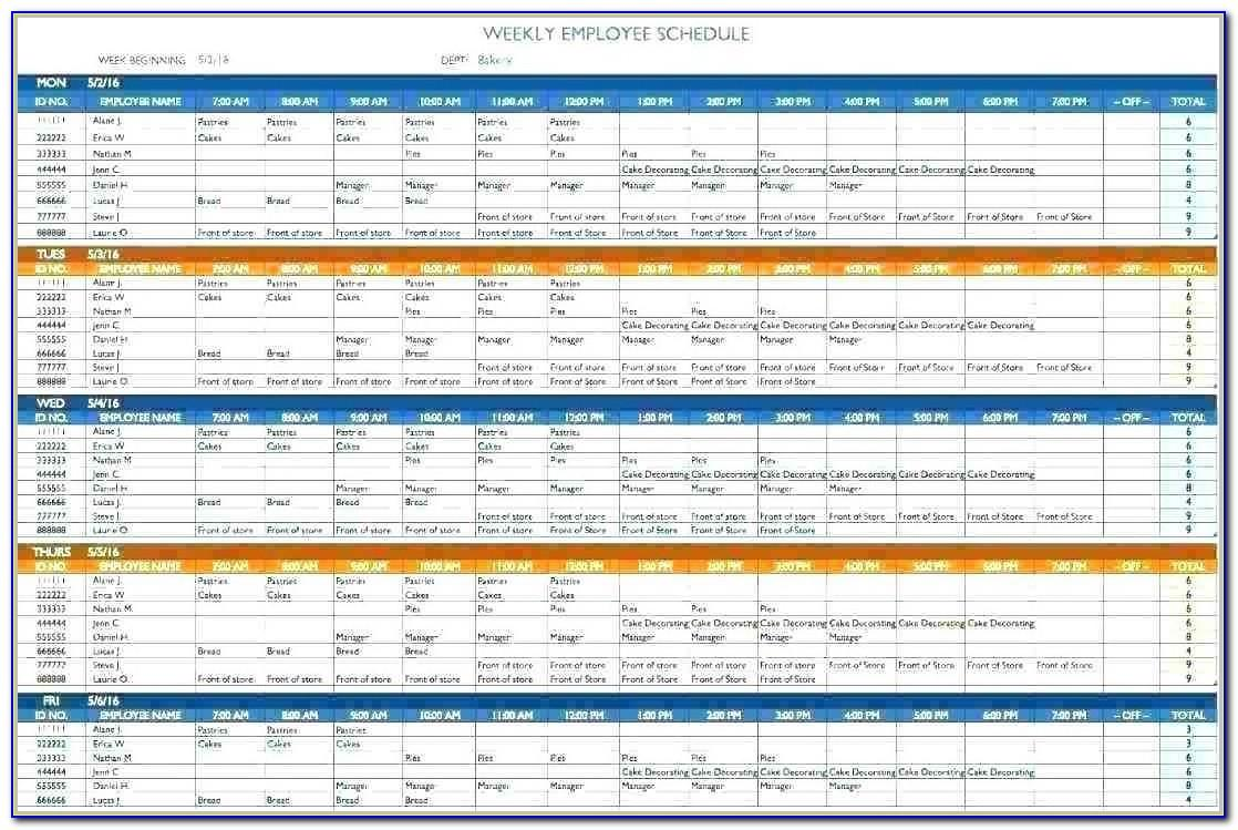 Employee Work Schedule Template Google Docs