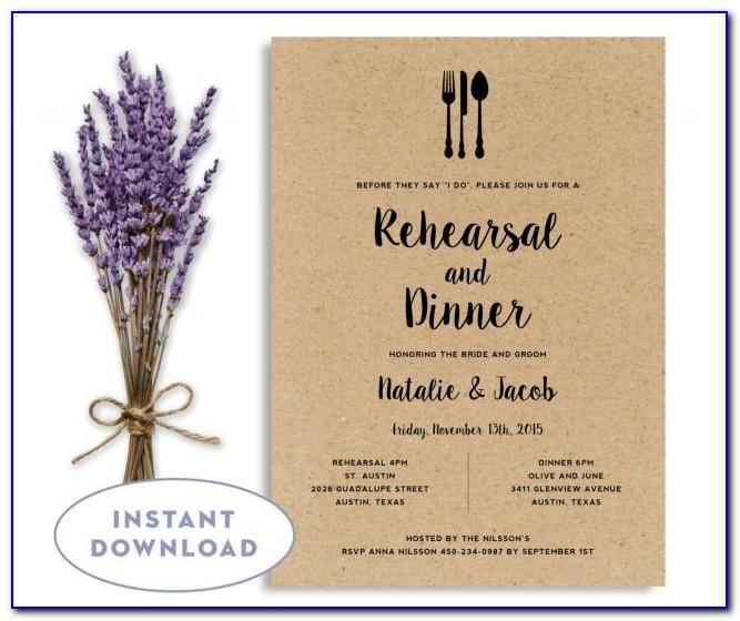 Free Dinner Invitation Card Template