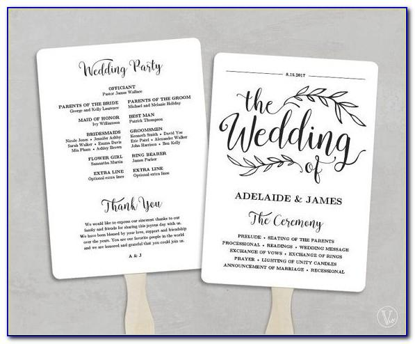 Free Downloadable Wedding Fan Program Template That Can Be Printed