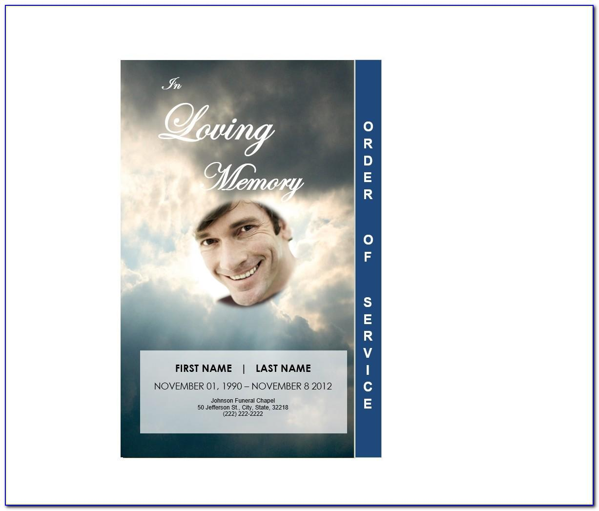 Free Editable Word Funeral Program Template