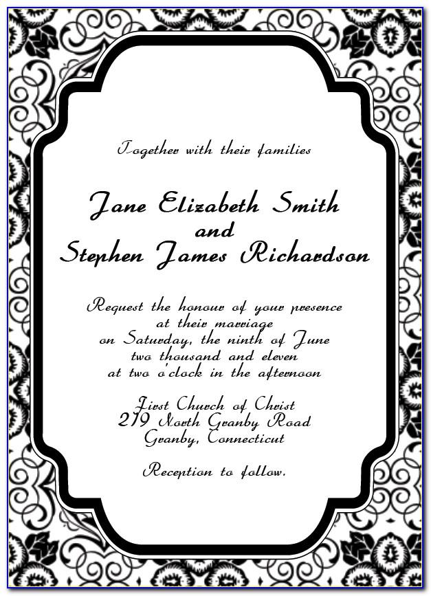 Free Online Wedding Invitation Templates Printable