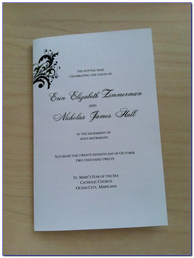 Free Printable Wedding Ceremony Program Template