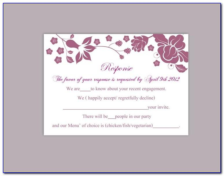 Free Printable Wedding Rsvp Template