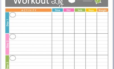 Free Printable Workout Journal Template