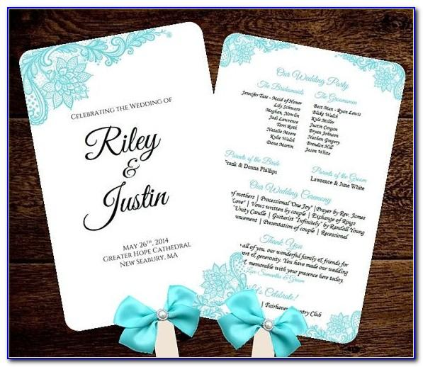 Free Rustic Wedding Program Fan Templates