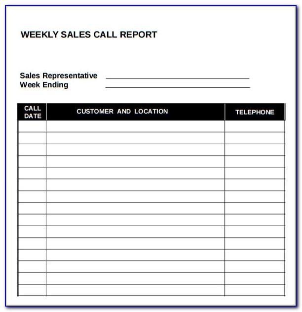 Free Sales Call Report Template Excel