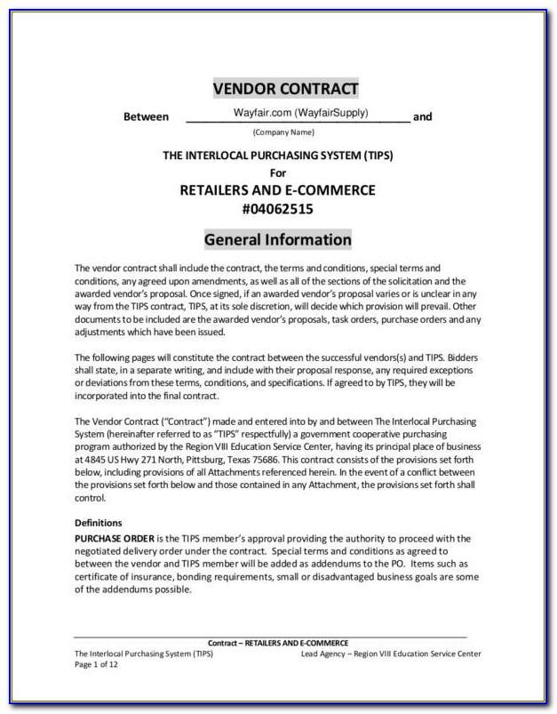 Free Vendor Credit Application Template