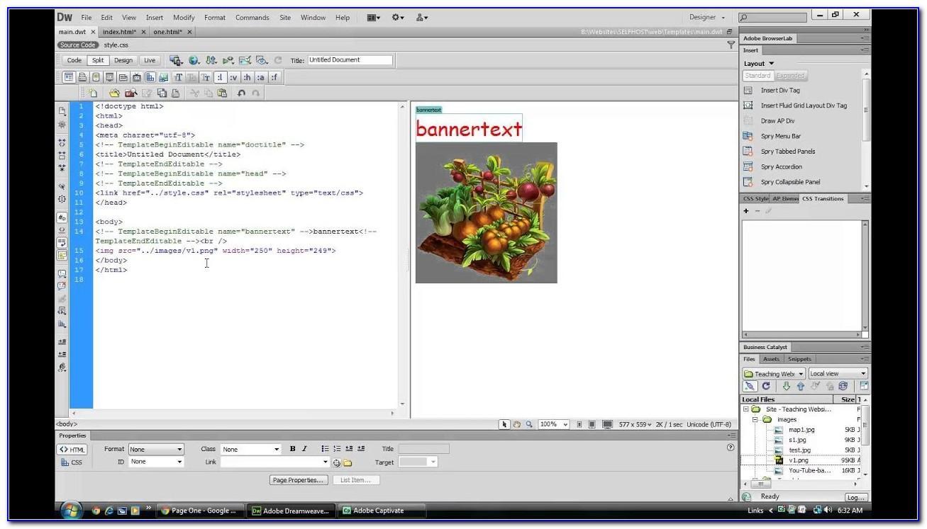 Free Website Template Dreamweaver Cs6