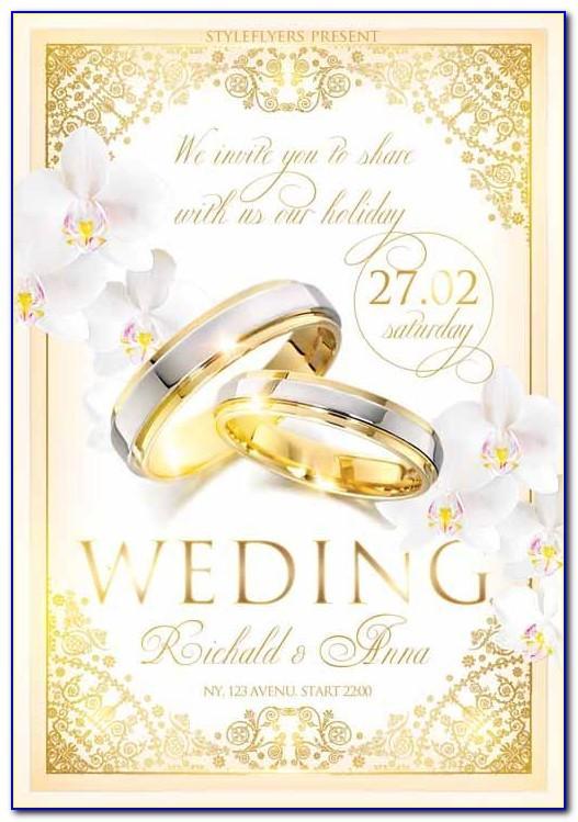 Free Wedding Flyer Templates Psd