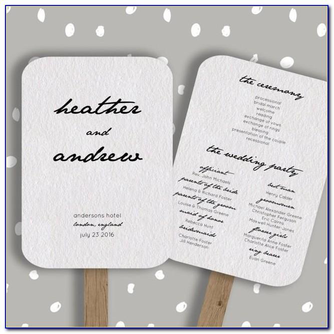 Free Wedding Invitation Program Templates