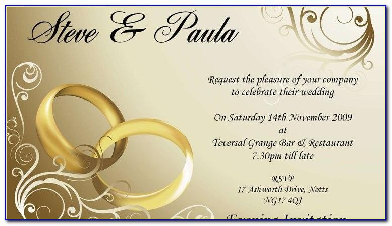 Free Wedding Invitation Templates Word Document
