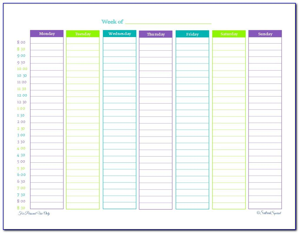 Free Weekly Employee Shift Schedule Template