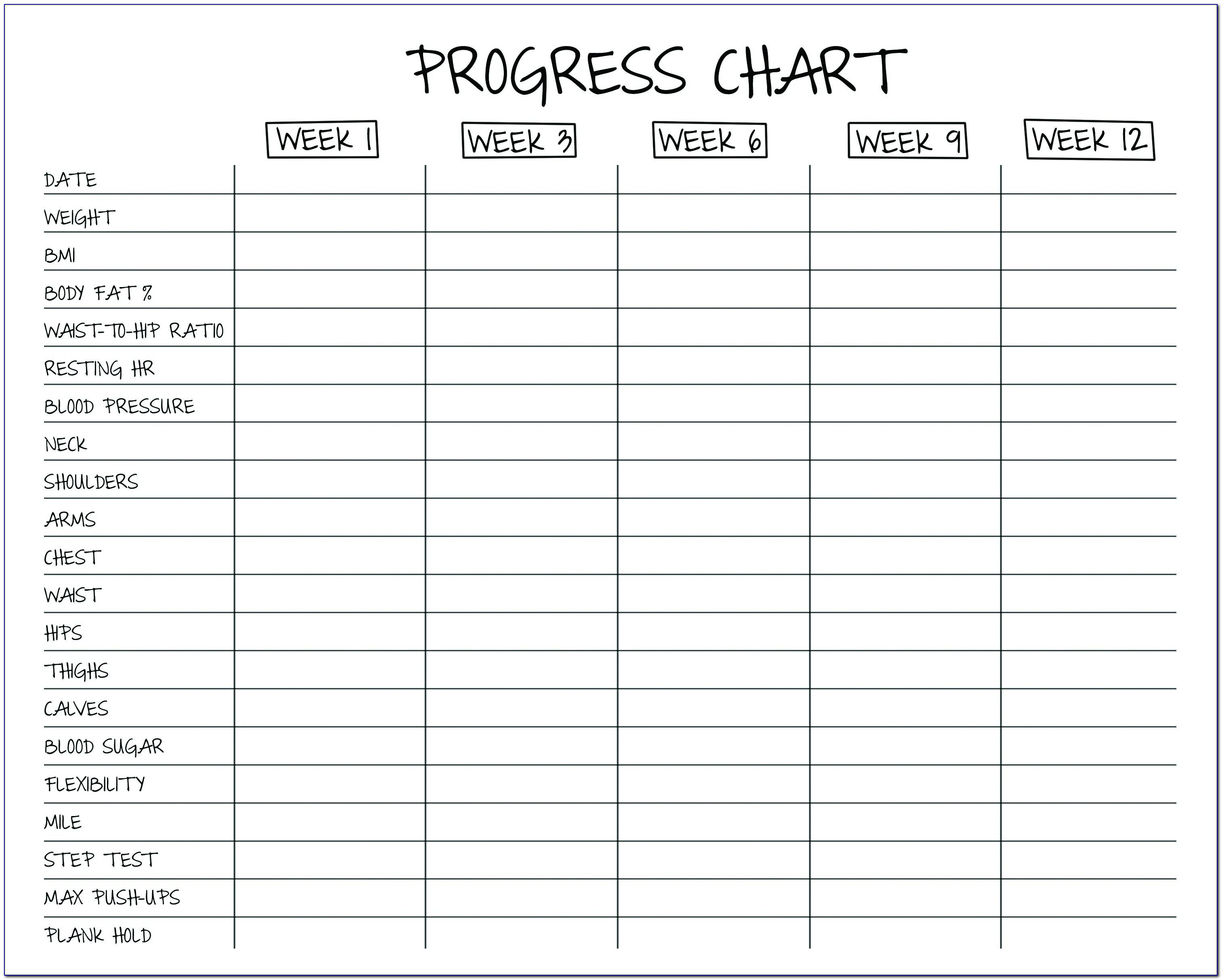Free Weekly Workout Log Template