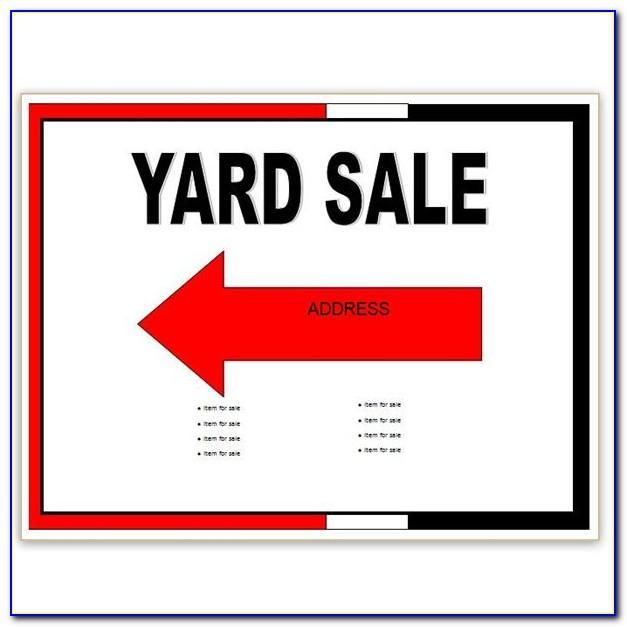 Garage Sale Ad Wording Examples