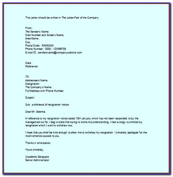 How To Write Resignation Letter Format Pdf