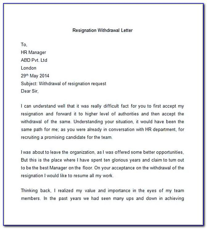 How To Write Resignation Letter To Company Form