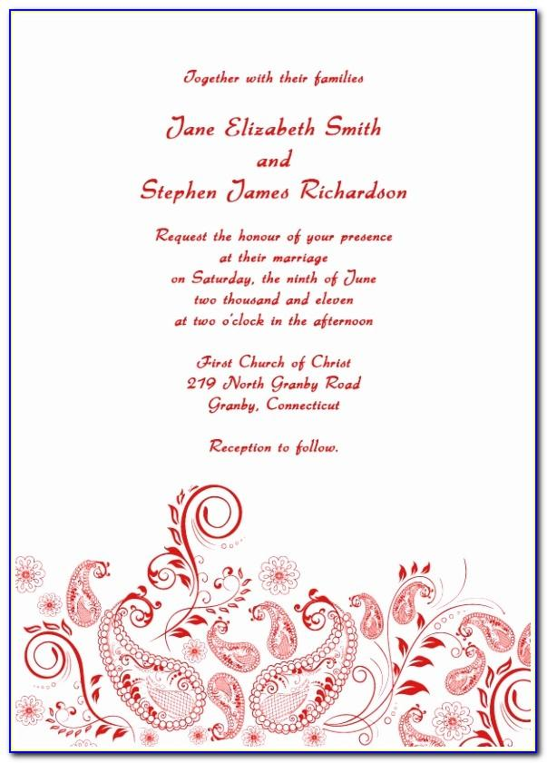 Indian Wedding Invitation Templates Pdf