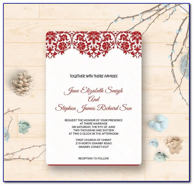 Indian Wedding Reception Invitation Templates
