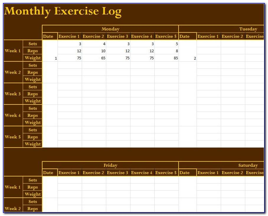 Job Training Log Template Excel