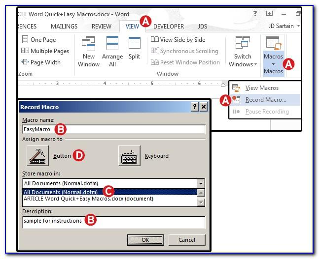 Macro Enabled Word Document Template