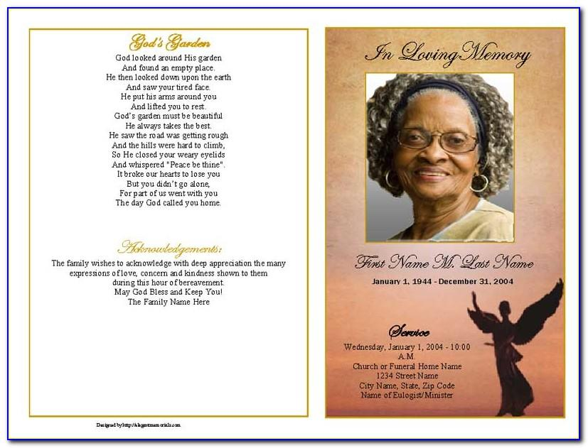 Microsoft Office Word Funeral Program Template