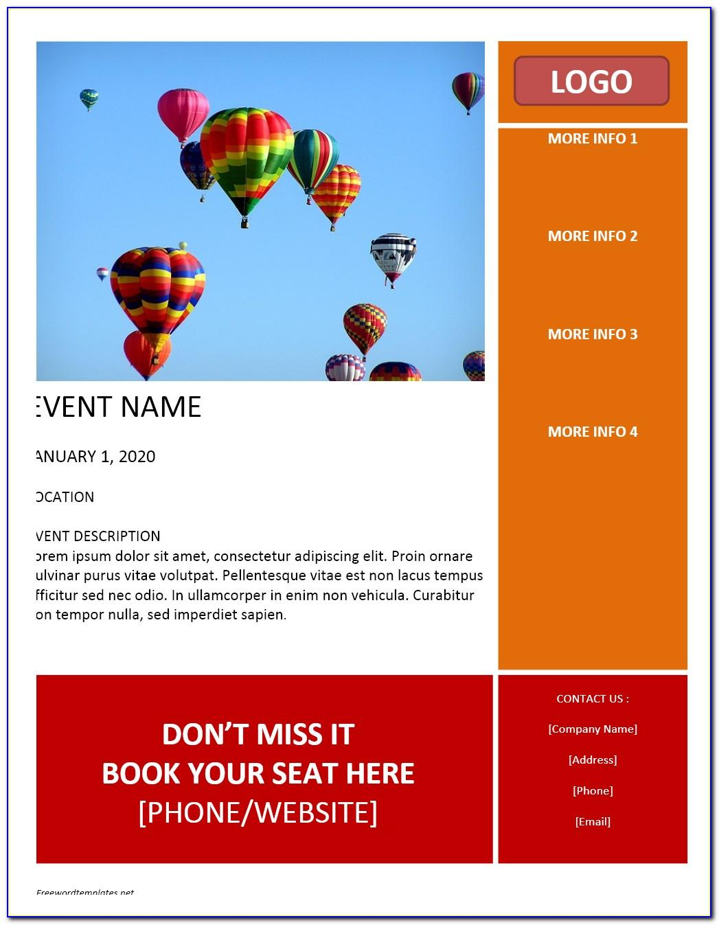 Microsoft Word Template Event Flyer
