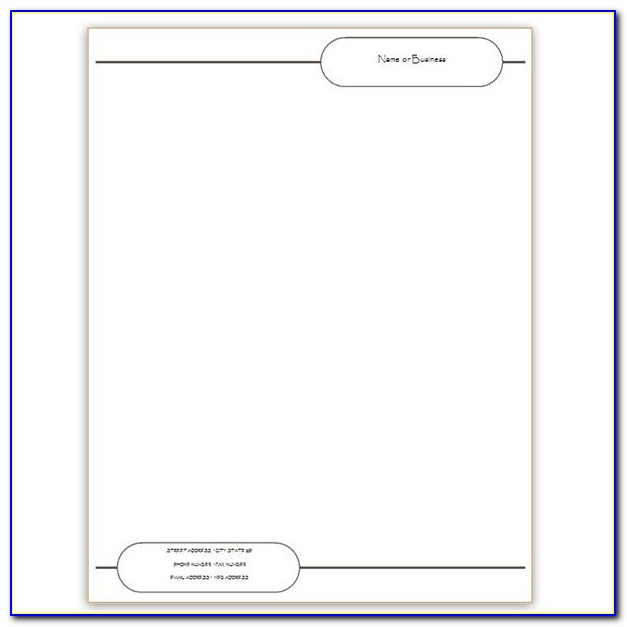 Microsoft Word Template For Letterhead