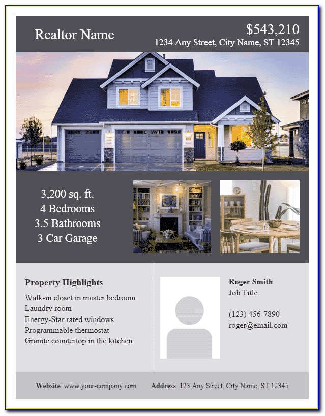 Microsoft Word Templates For Real Estate Flyers